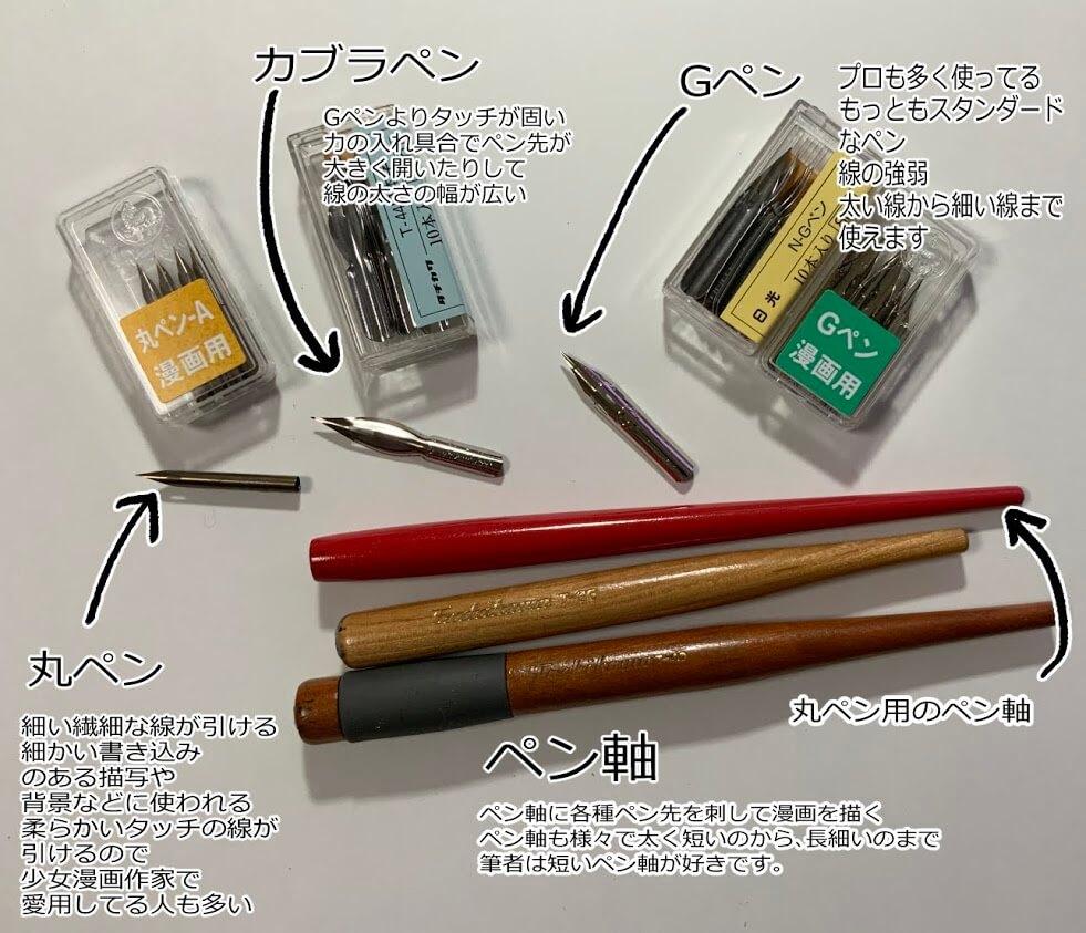 ペン先とペン軸