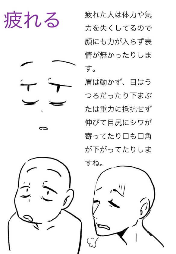 疲れるの説明