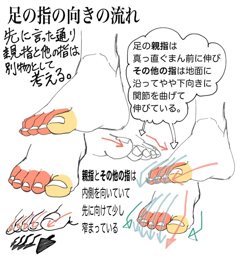 足の描き方4